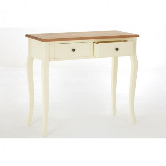 Highquay Cream Wooden Console Table 2 Drawer