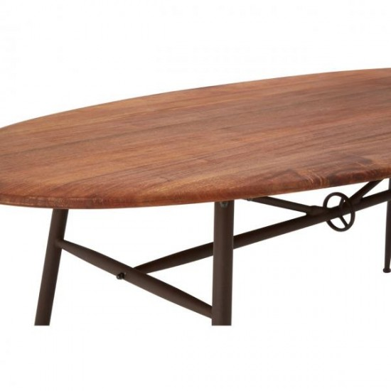 Century Wooden Oval Dining Table 4 6 Seater