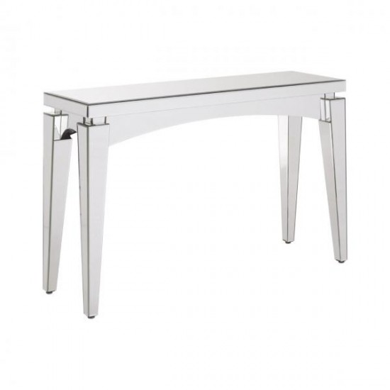 Brisk Mirrored Glass Art Deco Bevelled Edges Console Table