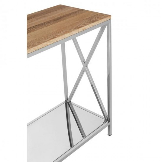 Chiswick Silver Cross Legs Console Table