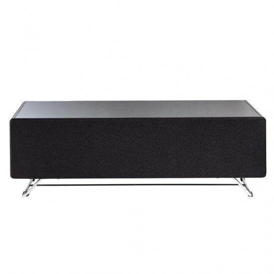 """Topega Black Glass TV Stand 120cm Wide for up to 55"""" TVs"""