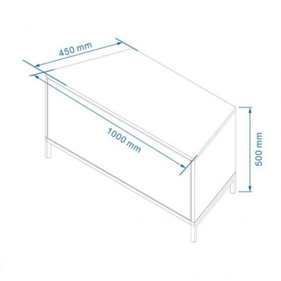 """Oberyn White Glass TV Stand 100cm Wide for up to 42"""" TVs"""