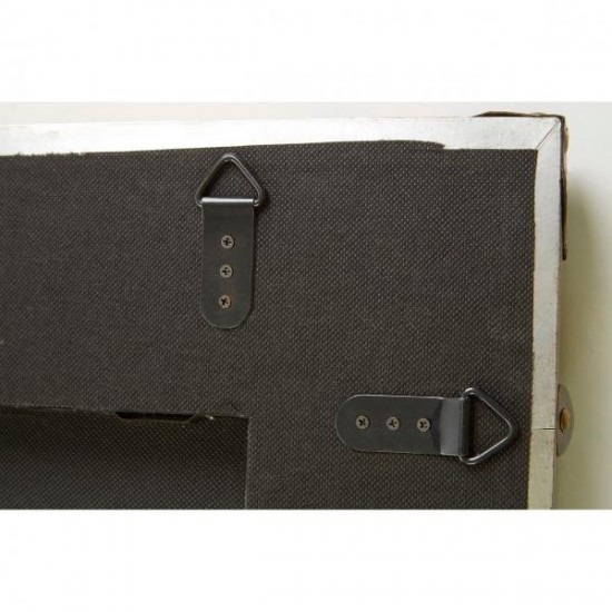 Nelm Copper Rectangular Faux Leather Strapping with Gold Studs Wall Mirror