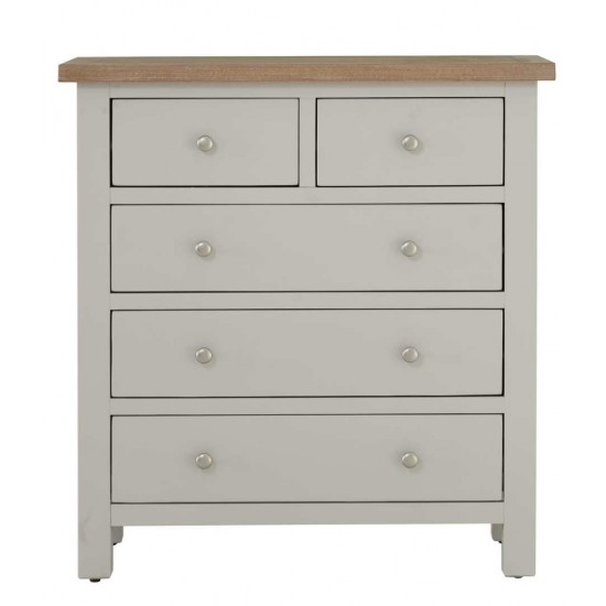 Toto Two-Tone Grey Chest of 5 Drawers
