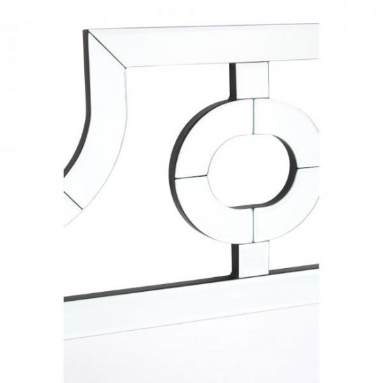 Maurice Silver Square Cut Out Design Wall Mirror