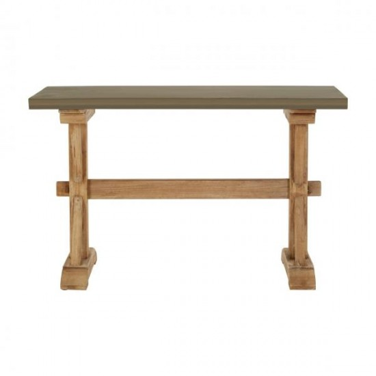 Elada Grey Wooden Cement Look Traditional Console Table