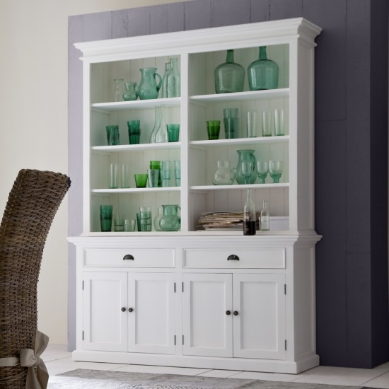 Cannes White Display Cabinet