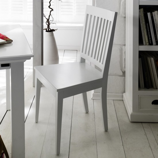 Cannes White Kitchen Set of 2 Dining Chairs