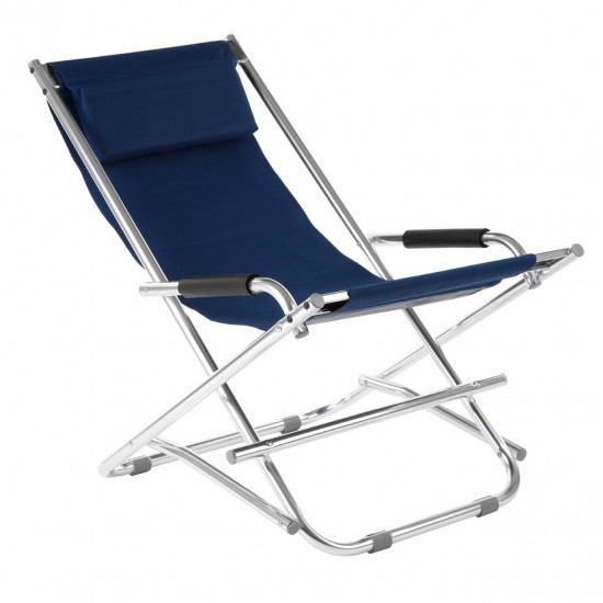 Monroe Blue Aluminium Folding Relax Garden Chair