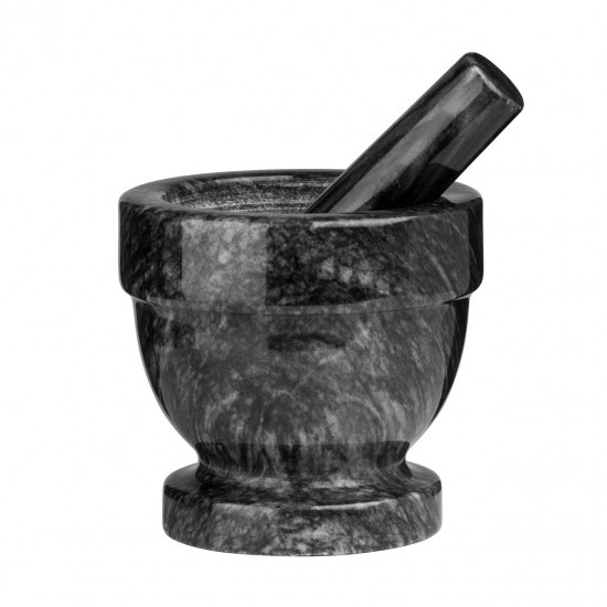 Marble Black Mortar And Pestle