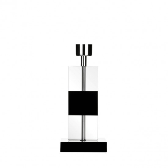 Silver Square Crystal Table Lamp Base
