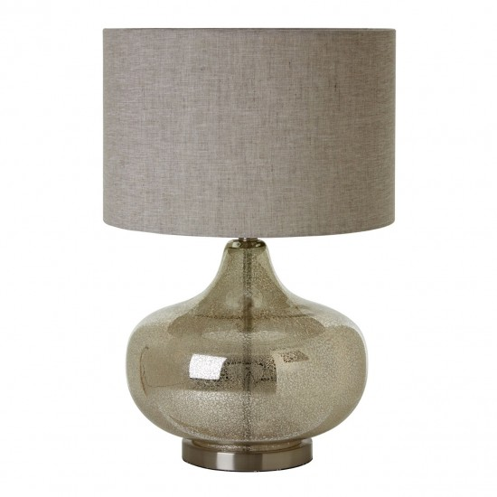 Rose Silver Glass Base Table Lamp