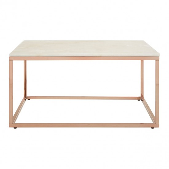 Calispa Square White Marble Coffee Table