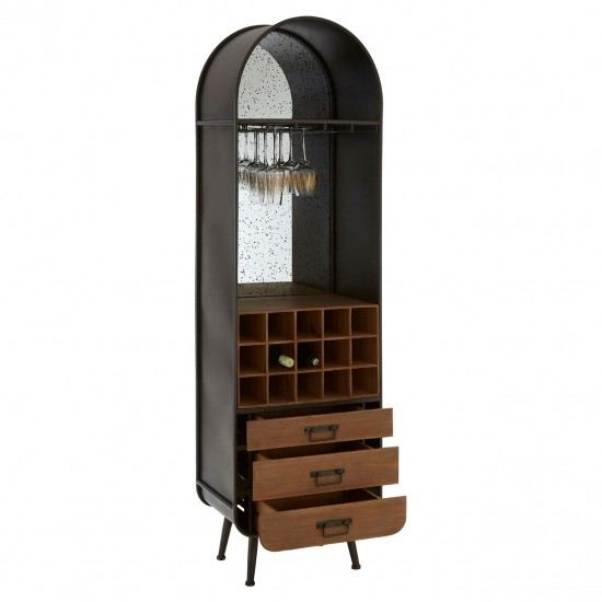 Gabriel Brown Bar Cabinet Wine Rack