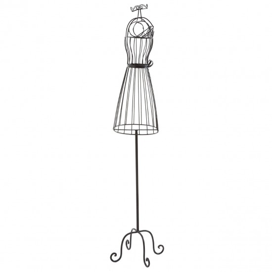 Evie Black Metal Wire Decorative Mannequin