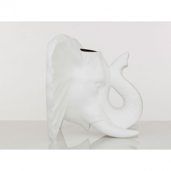 Elephant White Wall Mounted Planter