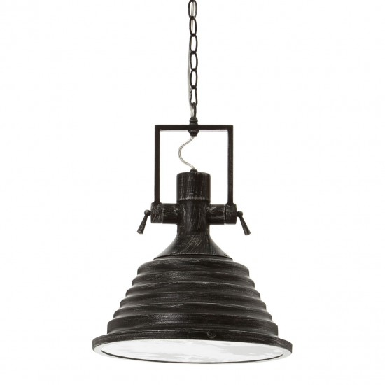 Aaron Black and Silver Pendant Light