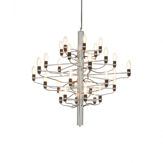 Aaron Large 30 Bulb Chrome Chandelier