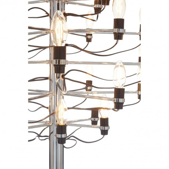 Aaron Small 30 Bulb Chrome Chandelier