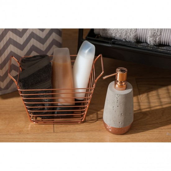 Rose Gold Iron Large Wire Basket