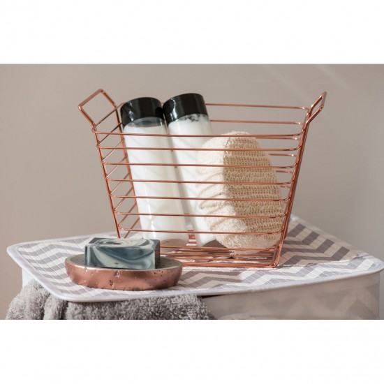 Rose Gold Iron Wire Basket