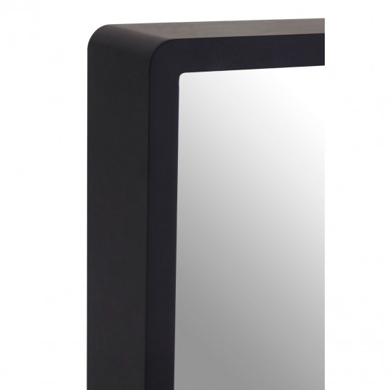 Black Square Small with Gold Edge Minimal Wall Mirror