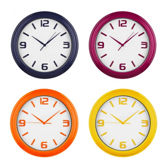Simple Black White Face Wall Clock