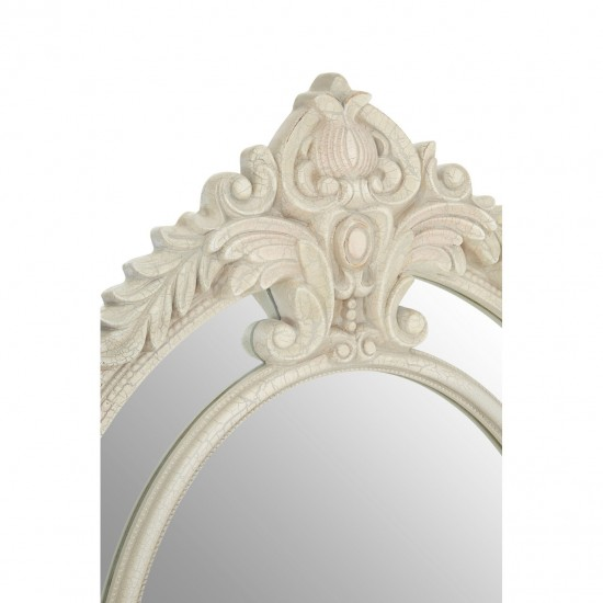 White Oval Wall Mirror