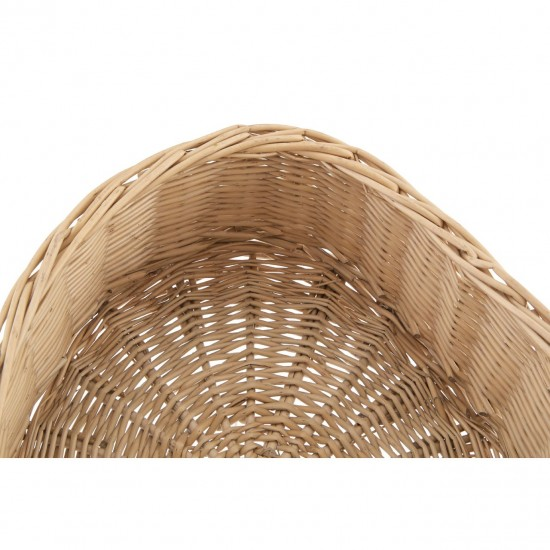 Willow Natural Heart Shaped Storage Basket