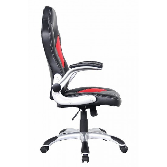 Cody Red Black Faux Leather Racing Office Chair