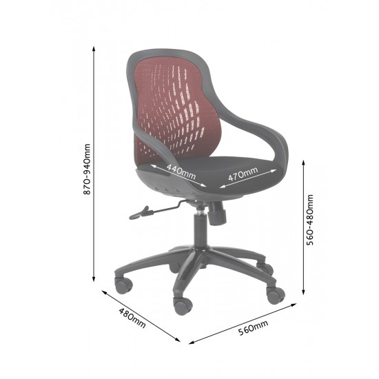 Spice Grey Office Chair Mesh Back