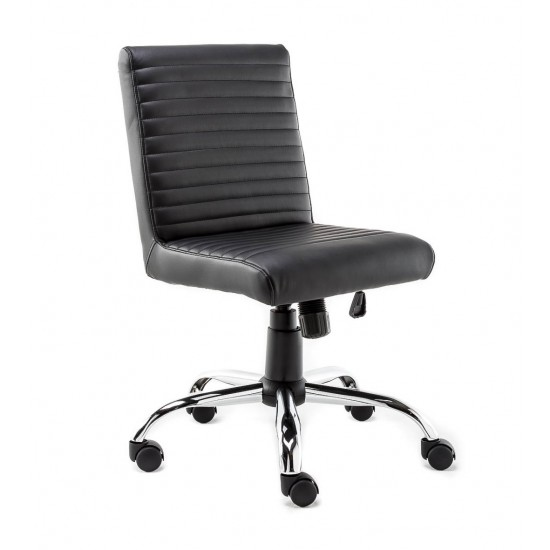Suzy Black Faux Leather Office Chair