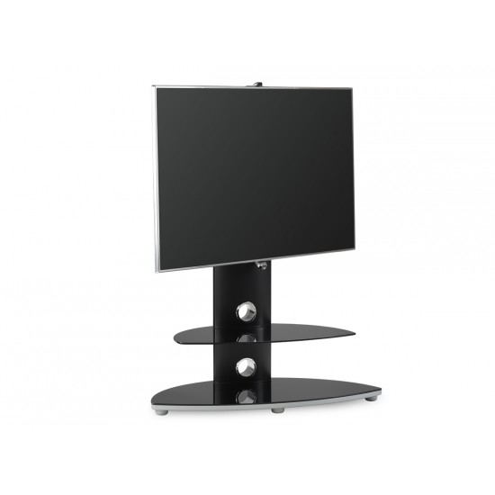 """Shelby Black TV Stand with Bracket up to 47"""" TVs"""