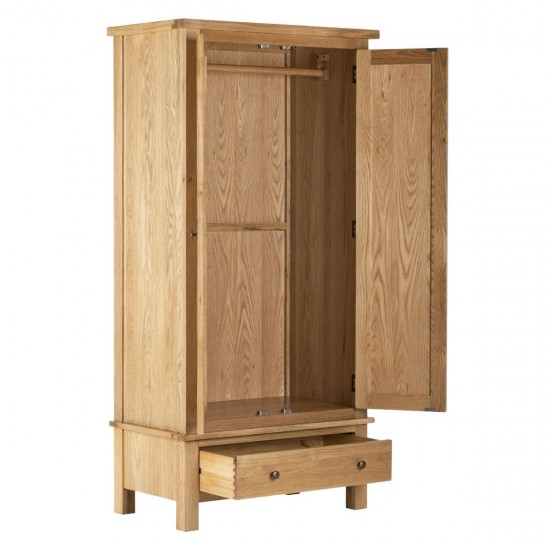 Omnia Solid Oak Double Wardrobe