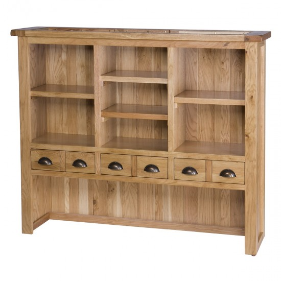 Drexel Solid Oak 6 Drawer 4 Shelf Hutch