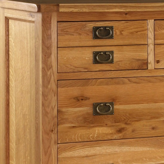 Rutherford Solid Oak Chest of 5 Drawers