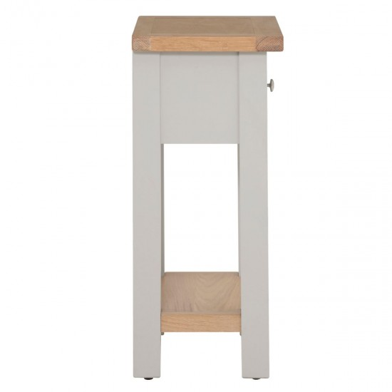 Toto Two-Tone Grey 1 Drawer Phone Table