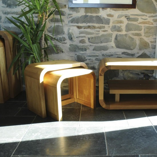 Adoremus Retro Oak Nest of 2 Tables