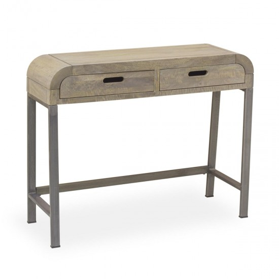 Fraser Curve Mango Wood 2 Drawer Console Table