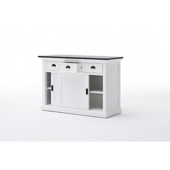 Cannes Contrast White Sideboard Sliding Doors