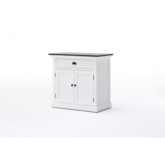 Cannes Contrast Small White Sideboard