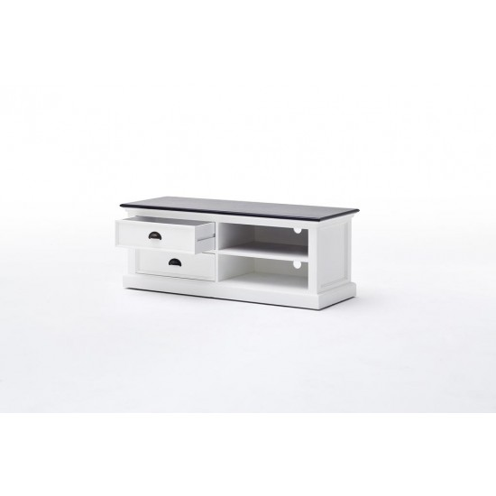 Cannes Contrast Medium White TV Stand