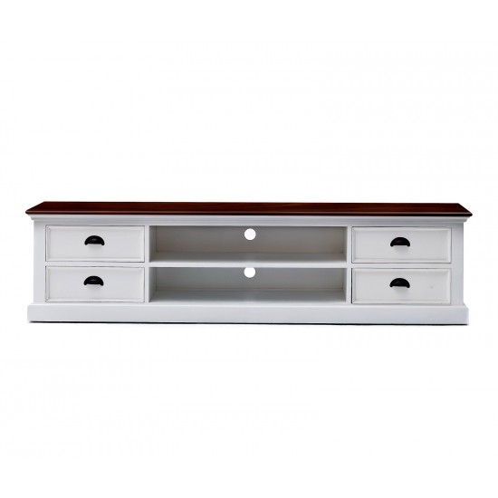 Cannes Accent White TV Stand