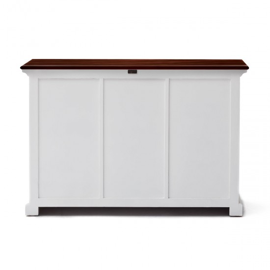 Cannes Accent White Sideboard Wicker Baskets