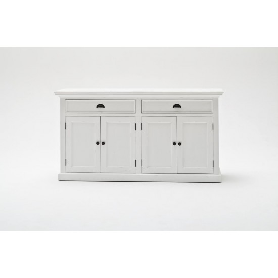 Cannes White Double Sideboard 4 Door 2 Drawer