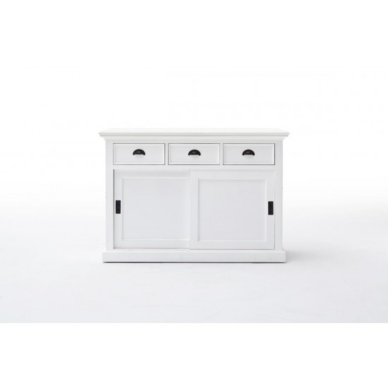 Cannes White Sideboard Sliding Door 3 Drawers