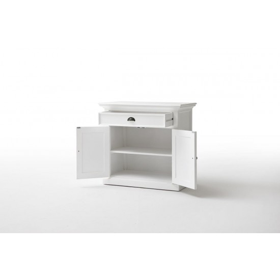Cannes Small White Sideboard Buffet 2 Door 1 Drawer