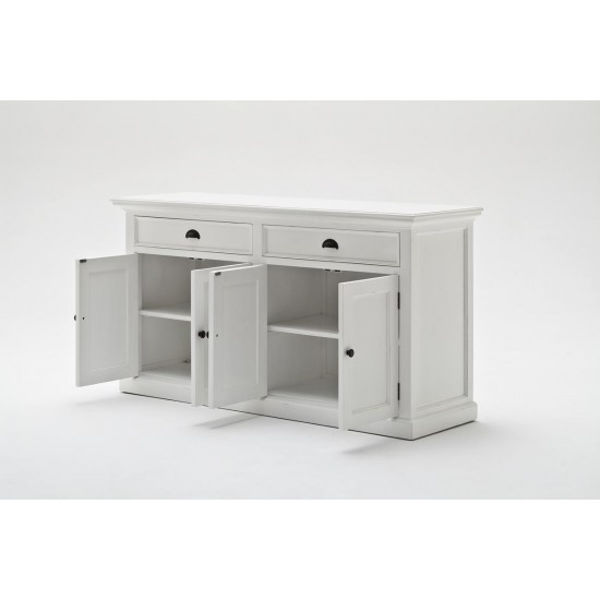 Cannes White Glazed Display Cabinet Hutch Unit