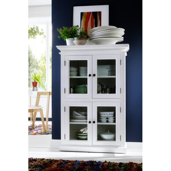 Cannes White Glazed Display Cabinet