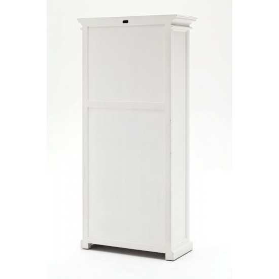 Cannes Tall White Glazed 6 Door Display Cabinet
